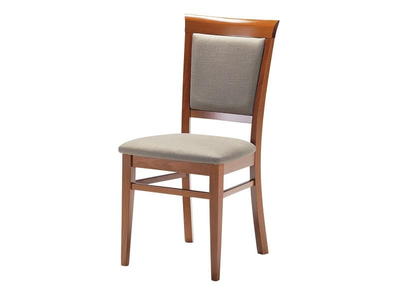 Elegant Padded Seat Dining Chairs Wooden Chair With Padded Seat And Backrest For Living Rooms