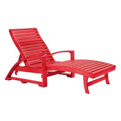 Elegant Patio Chaise Lounge Chair Heavy Duty Outdoor Chaise Lounge Chair With Armrests