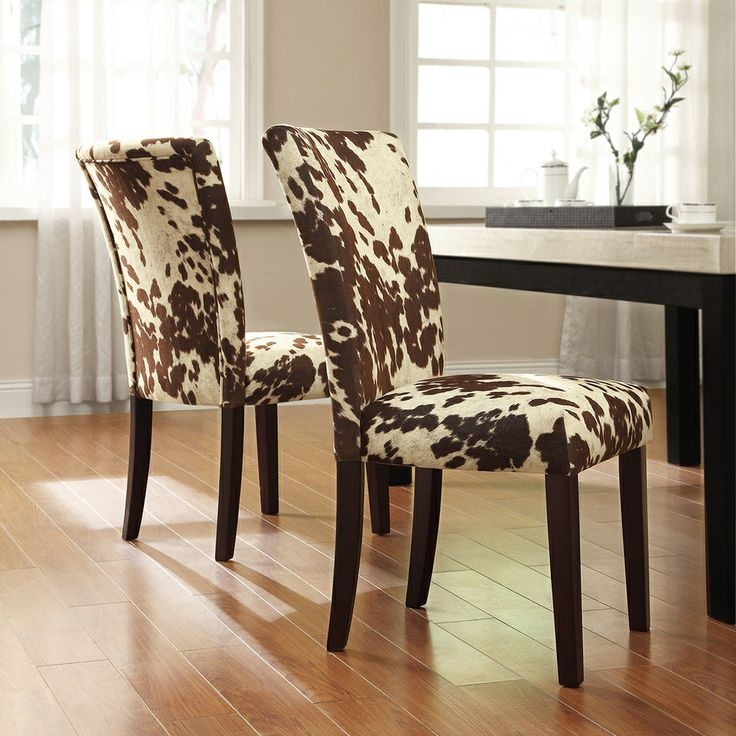 Elegant Printed Dining Chairs Cow Print Dining Chair Metallic Cowhide Rug Design Ideas Best 25