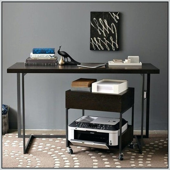 Elegant Printer Stand Ikea Desk Under Desk Printer Stand With Drawershome Design Ideas