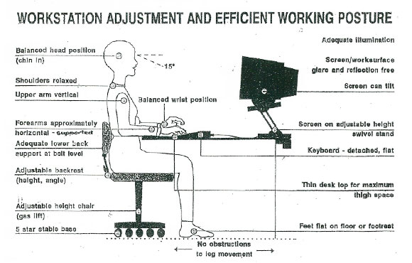Elegant Proper Desk Ergonomics Outstanding Ergonomics My Physiocoza Intended For Ergonomic Desk