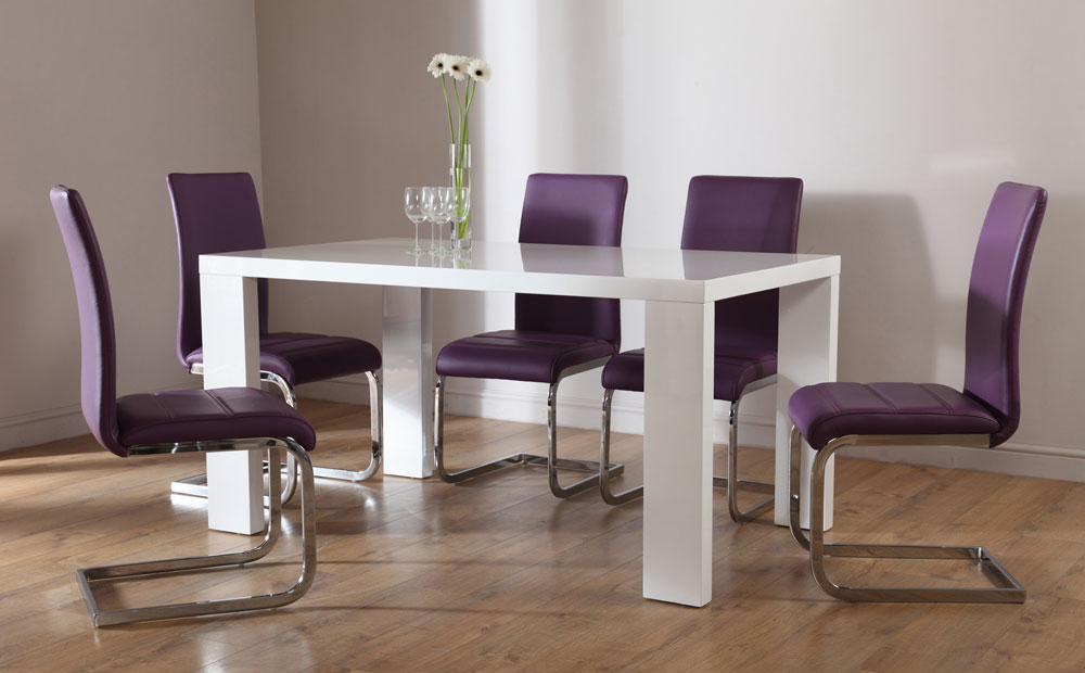 Elegant Purple Dining Chairs Purple Leather Dining Chairs Island Kitchen