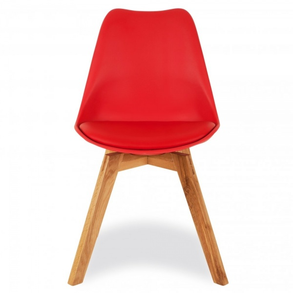 Elegant Red Dining Chairs Dining Chair In Red With Solid Oak Crossed Wood Legs Cult Furniture
