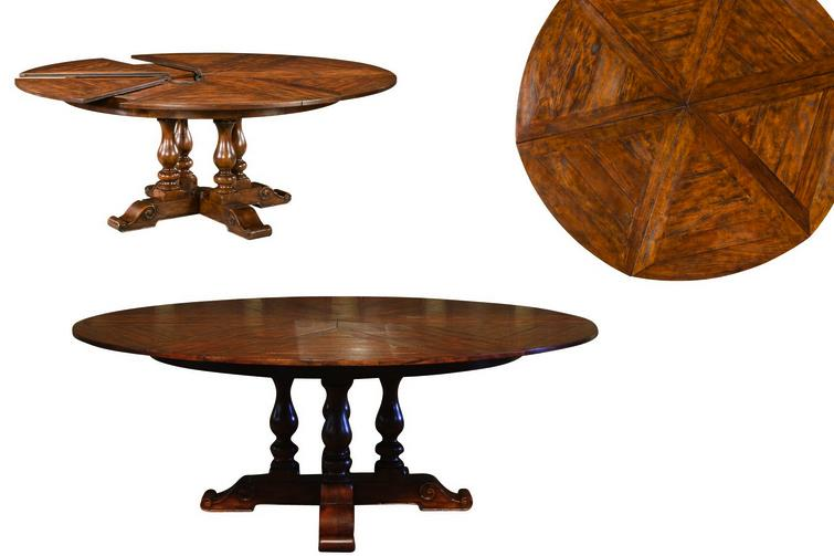 Elegant Round Dining Table With Leaf 62 78 Jupe Table For Sale Round To Round Country Dining Table