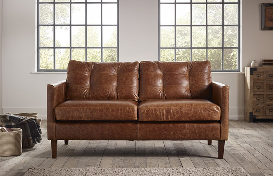 Elegant Small Brown Leather Sofa Sofa Glamorous Small Leather Sofa 9 Small Leather Sofa Small