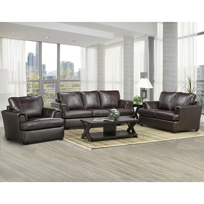 Elegant Sofa Loveseat And Chair Set Coja Royal Cranberry Leather 3 Piece Living Room Set Reviews