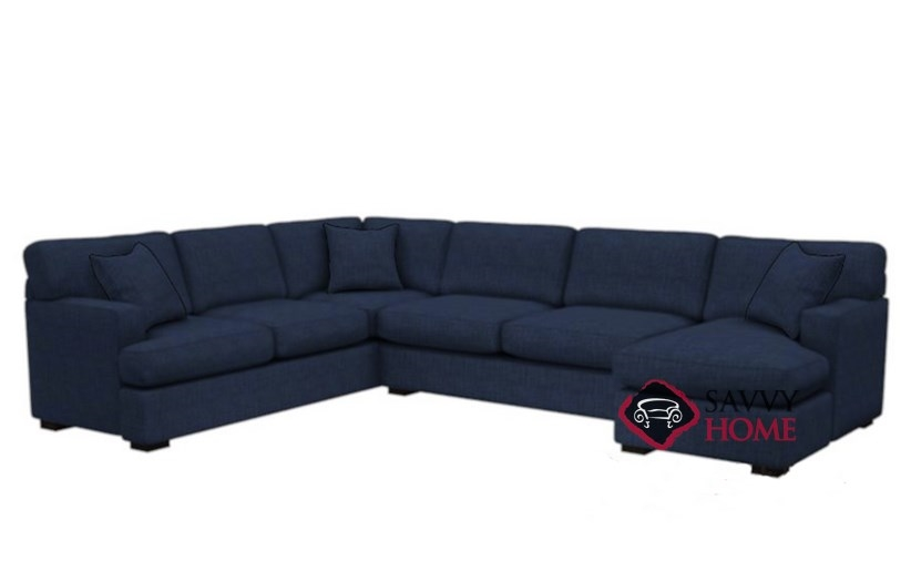 Elegant U Shaped Sectional Sleeper Sofa 146 Fabric True Sectional Stanton Is Fully Customizable You