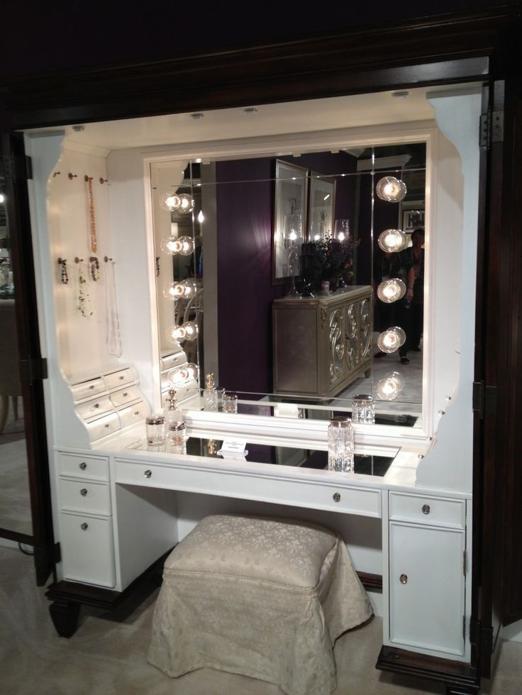 Elegant Vanity Sets With Mirror And Bench Best 25 Makeup Table With Lights Ideas On Pinterest Vanity