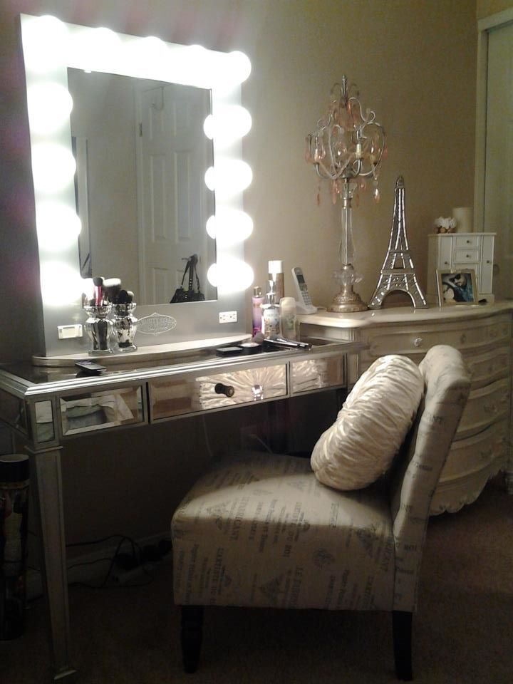 Elegant Vanity With Mirror And Chair Ideas For Making Your Own Vanity Mirror With Lights Diy Or Buy