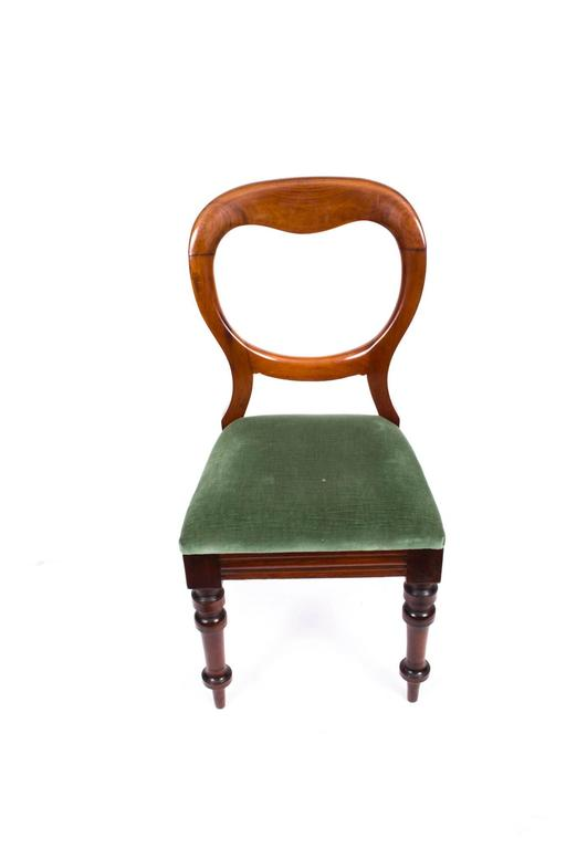Elegant Victorian Dining Chairs Antique Set Of Ten Victorian Balloon Back Dining Chairs Circa