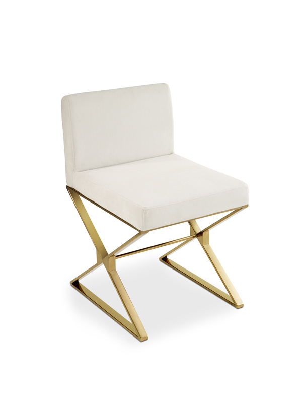 Elegant White And Gold Accent Chair Tuxedoaccentchairrosegoldangle