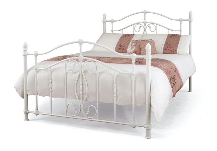 Elegant White Full Size Headboard And Footboard Bedroom White Iron Bed With Carved Headboard And Foot Board Using
