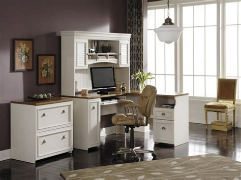 Elegant White Home Office Furniture Collections Solid Wood Home Office Desks White Wood Home Office Desk White