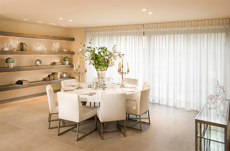 Elegant White Round Dining Table Furniture Arrangement Ideas 25 Dining Rooms With Round White