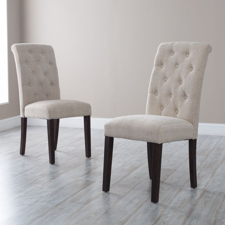 Elegant Wood And Fabric Dining Chairs Best 25 Tufted Dining Chairs Ideas On Pinterest Dining Room