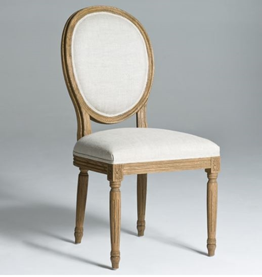 Elegant Wood And Fabric Dining Chairs Round Back Dining Chairs Natural Wood Legs Dining Chair Solid