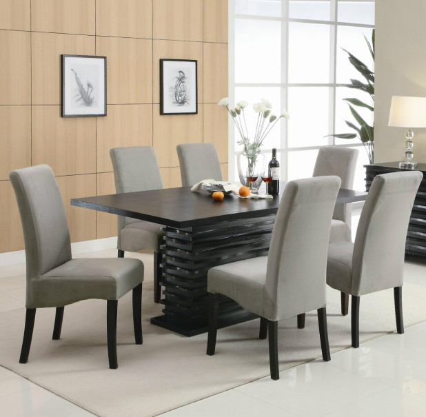Elegant Wood And Fabric Dining Room Chairs Top Other Upholstered Dining Room Sets Exquisite On Other And For