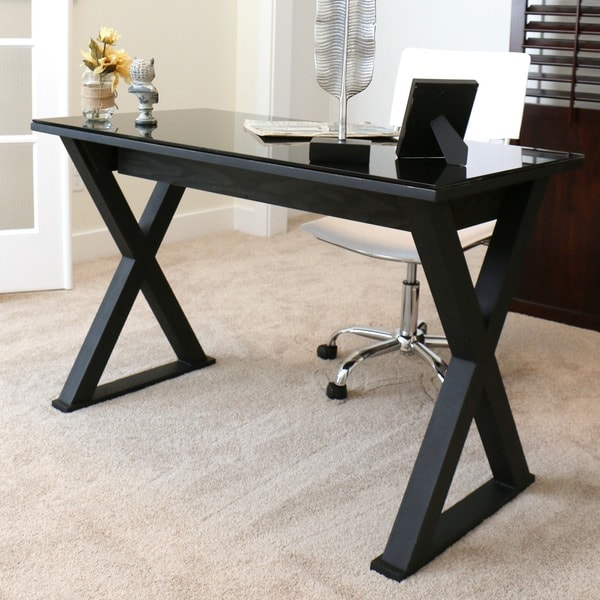 Fabulous 48 Inch Desk 48 Inch Black Glass Computer Desk Free Shipping Today