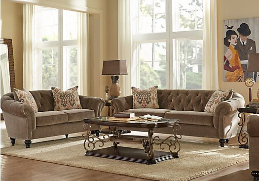 Fabulous 5 Piece Living Room Furniture Sets Cindy Crawford Home Meredith Taupe 5 Pc Living Room In 2018 New