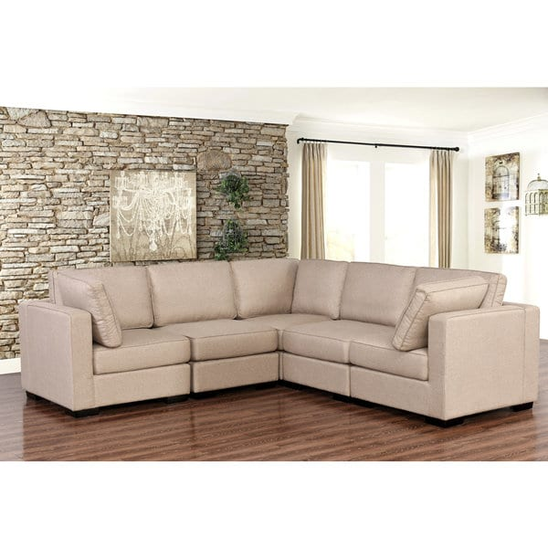 Fabulous 5 Piece Sectional Couch Abson Harper Fabric Modular 5 Piece Sectional Free Shipping