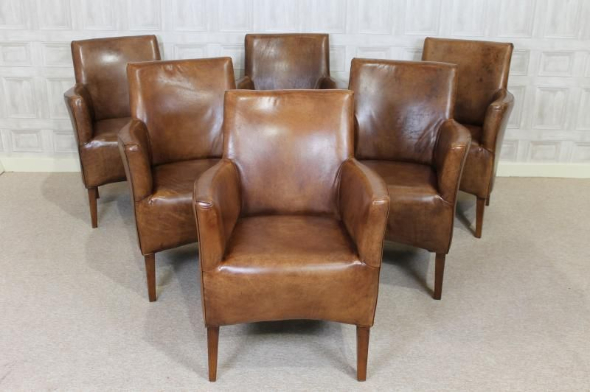 Fabulous Armchair Style Dining Chairs Vintage Style Leather Chair