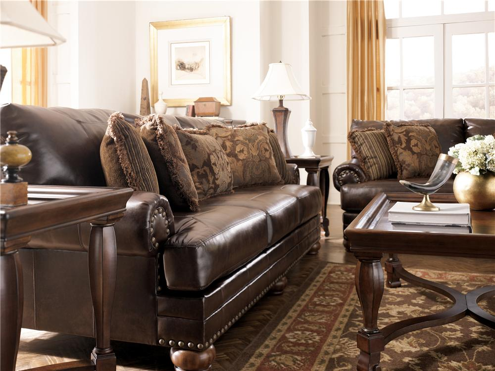 Fabulous Ashley Furniture Leather Couch And Loveseat Charming Durablend Leather Sofa Ashley Furniture Leather Sectional
