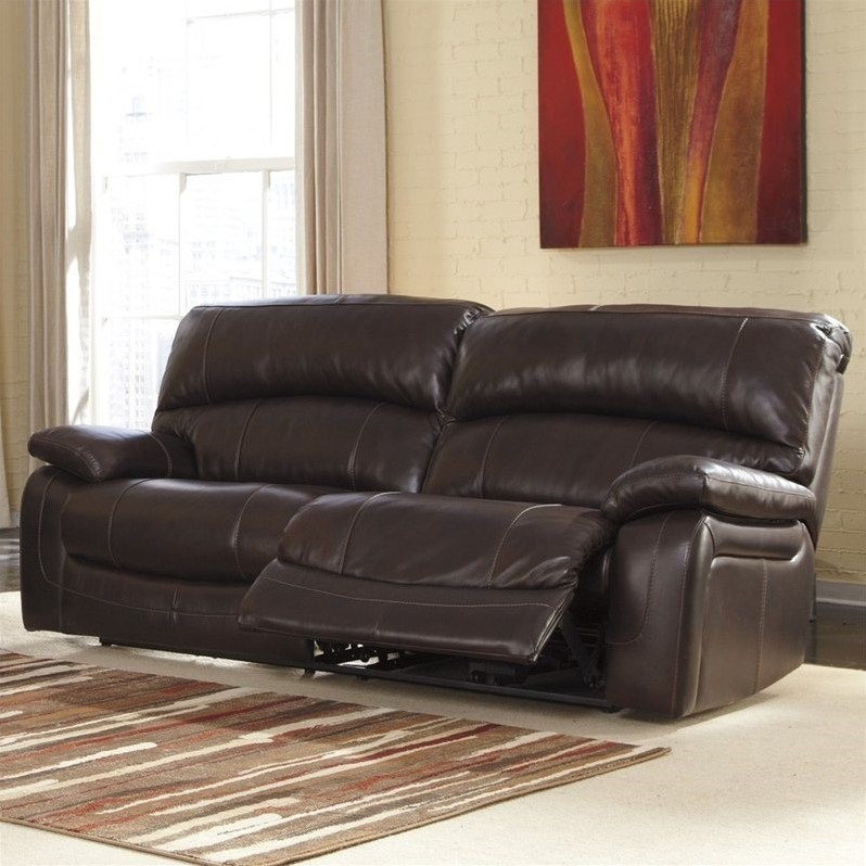 Fabulous Ashley Furniture Reclining Sofa Ashley Furniture Damacio Leather Power Reclining Sofa In Dark
