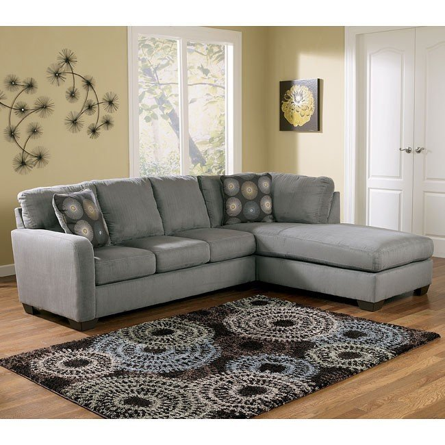 Fabulous Ashley Sectional Sofa With Chaise Zella Charcoal Right Facing Chaise Sectional Signature Design