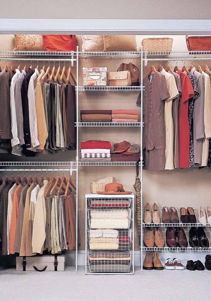 Fabulous Bedroom Closet Organization Systems Affordable Home Improvement Ideas Wire Shelving Shelving And Spaces