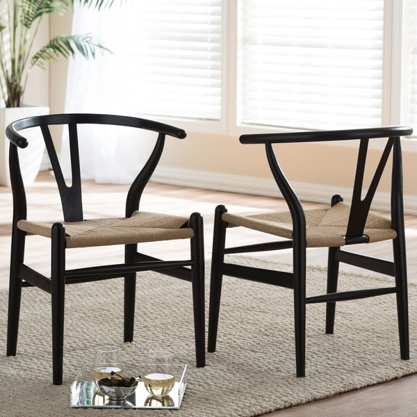 Fabulous Black And Wood Dining Chairs Baxton Studio Black Wood Y Dining Chair Free Shipping Today