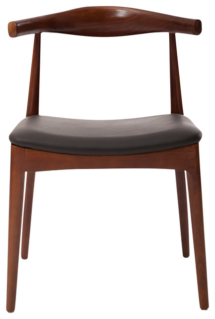 Fabulous Black Leather And Wood Dining Chairs Elbow Dining Chair Black Italian Leather And Ash Wood Walnut