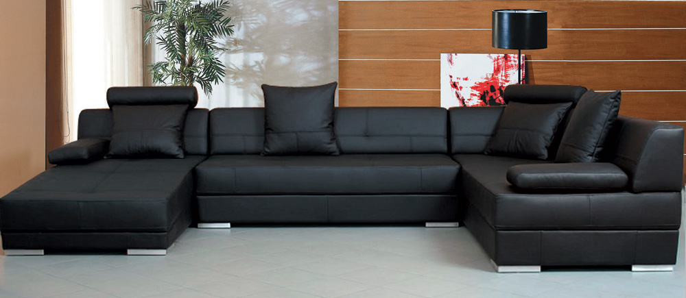 Fabulous Black Sectional Sofa With Chaise Black Sectional Sofas Sofas