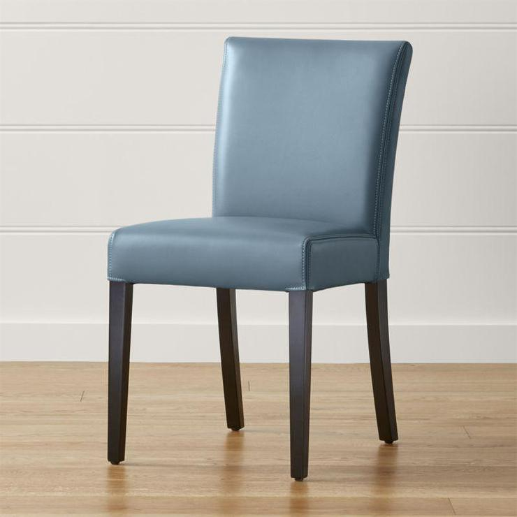 Fabulous Blue Leather Dining Room Chairs Leather Armless Dining Chair