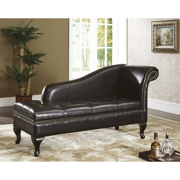 Fabulous Brown Leather Chaise Longue 8933 Chaise Longuebench Leather With Storage Black Or Brown