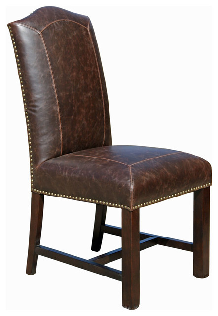 Fabulous Brown Leather Dining Chairs Distressed Leather Dining Chair Transitional Dining Chairs