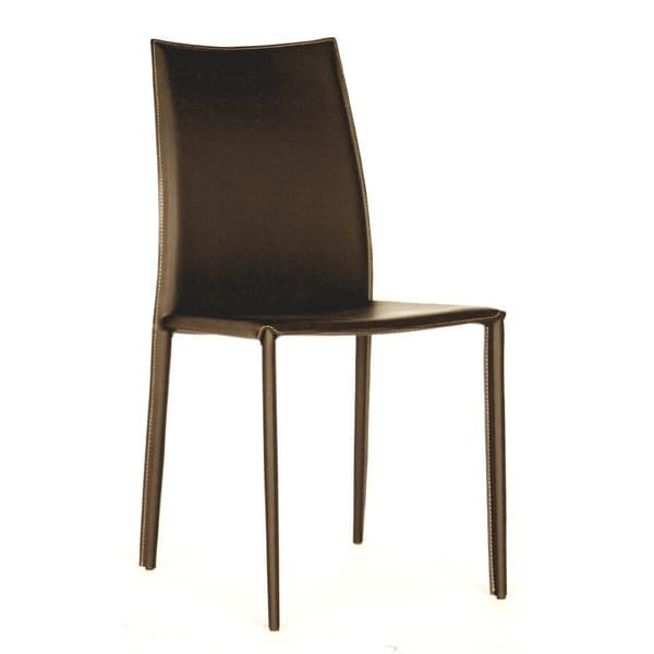 Fabulous Brown Leather Dining Chairs Modern Brown Faux Leather Dining Chair 2 Piece Set Baxton