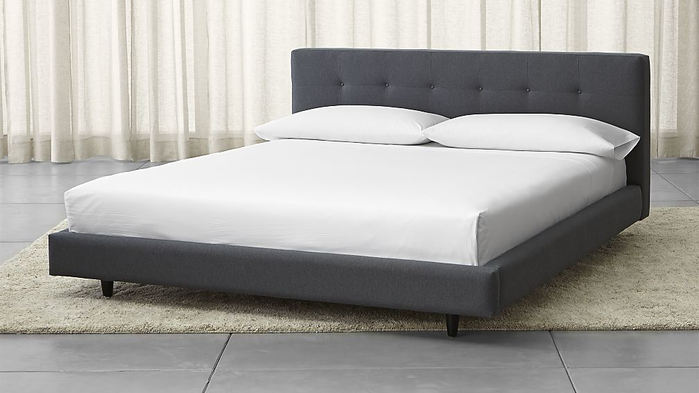 Fabulous Cal King Bed Frame Tate Upholstered California King Bed Crate And Barrel