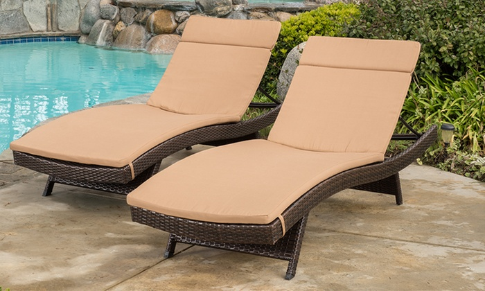 Fabulous Chaise Lounge For 2 Cushion Pads For Outdoor Chaise Lounge Chairs 2 Pack Groupon