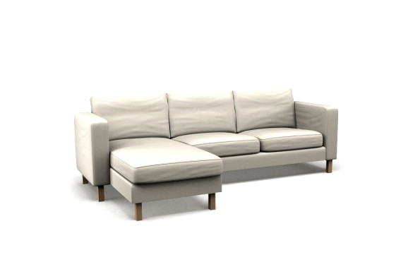 Fabulous Chaise Lounge For 2 Karlstad Two Seat Sofa And Chaise Longue Left Cover Event White