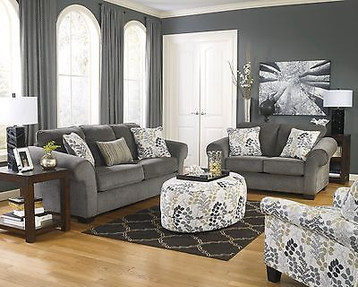 Fabulous Charcoal Grey Sofa And Loveseat Sterling Silver Quartz Pear Dangle Earrings Contemporary Room