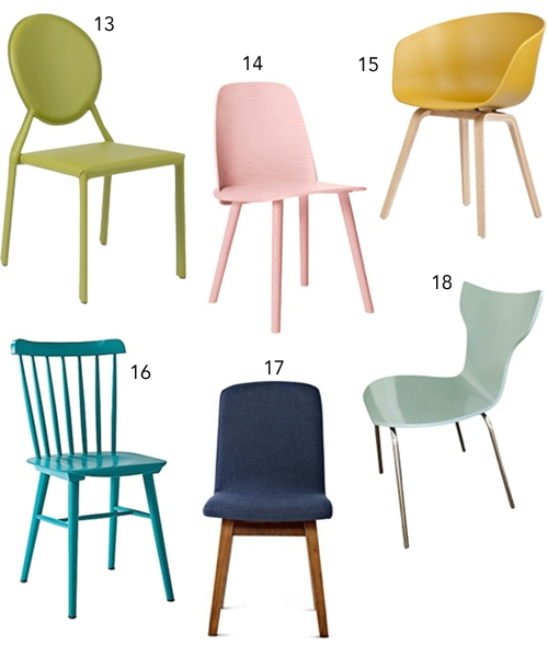 Fabulous Colorful Dining Chairs Get The Look 30 Colorful Dining Chairs Stylecarrot