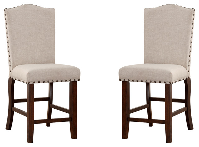 Fabulous Cream Dining Chairs Dining Chairs Cream Fabric Padded Cushion Back With Stud Trim