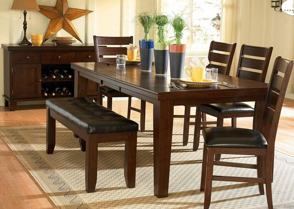 Fabulous Dining Room Tables 26 Big Small Dining Room Sets With Bench Seating