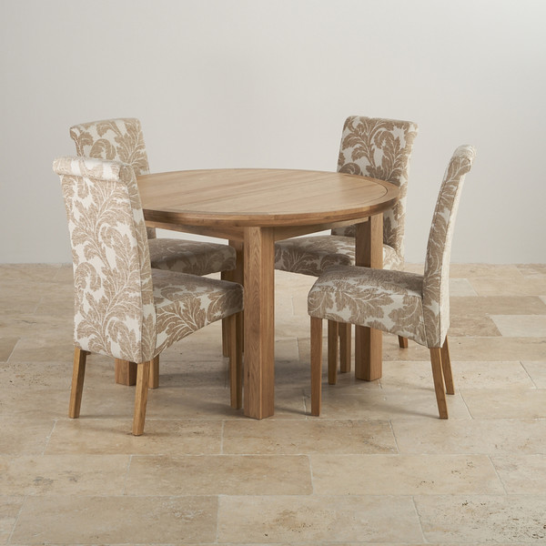 Fabulous Dining Table And 4 Chairs Knightsbridge Oak Dining Set Round Extending Table 4 Chairs