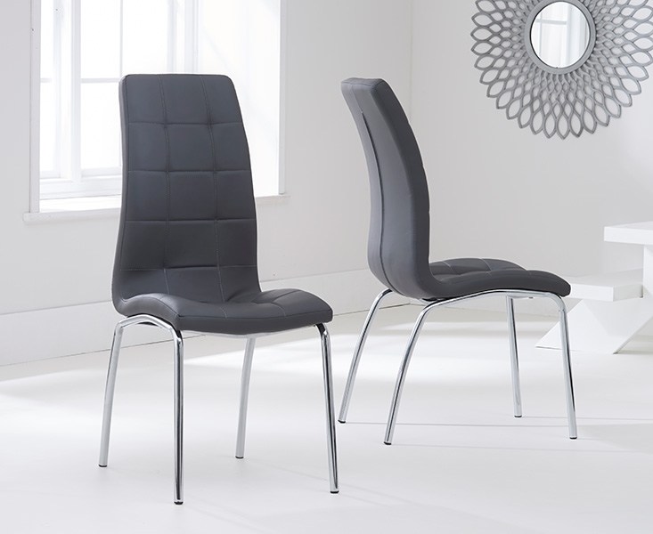 Fabulous Faux Leather Dining Chairs Other Faux Leather Dining Room Chairs Incredible On Other Grey
