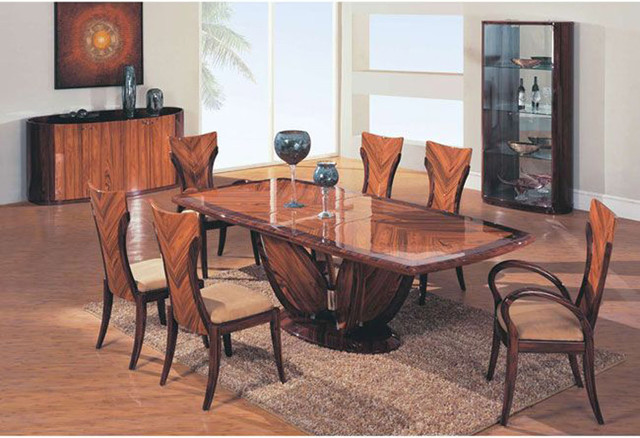Fabulous Furniture Dining Table Sets Wooden Fabric Seats Modern Furniture Table Set Contemporary
