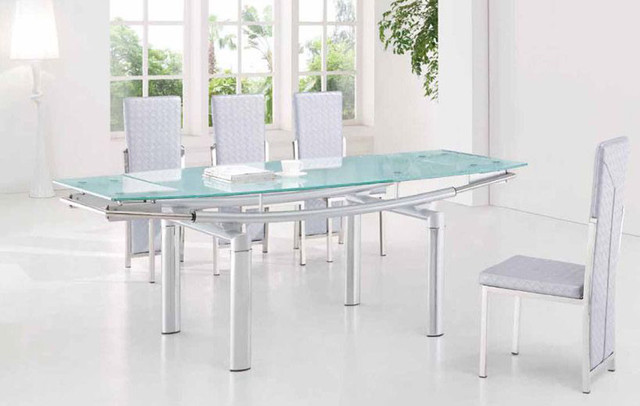 Fabulous Glass Extendable Dining Table Set Extending Glass Dining Table Ingeflinte