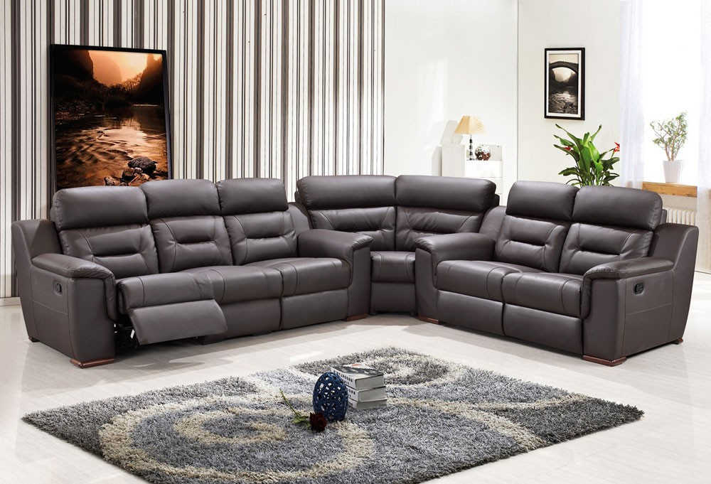 Fabulous Gray Sectional Sofa With Recliner Sectional Sofa Recliner Sofas