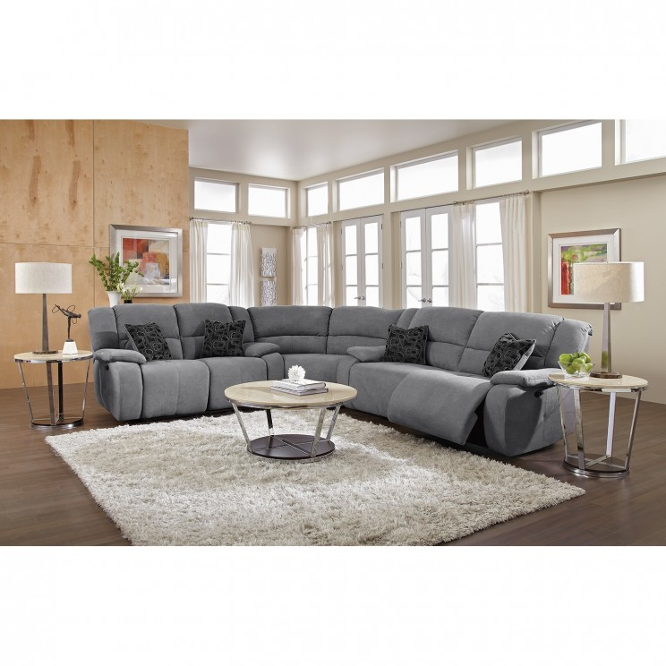 Fabulous Gray Sectional Sofa With Recliner Sectional Sofa With Recliner U8122 3pc Reclining Sectional Sofa