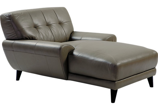 Fabulous Grey Leather Chaise Lounge Some Various Wonderful Designs Leather Chaise Lounge Chair